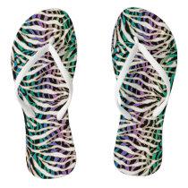 Craziest Zebra Print Exotic Animal Striped Flip Flops