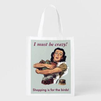 Crazy2 Reusable Grocery Bag