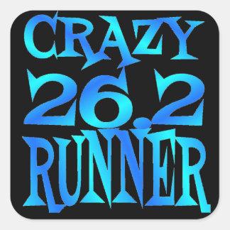 Crazy 26.2 Runner Square Sticker