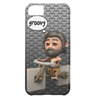 Crazy 3d Caveman Bike Square Wheels Cover For iPhone 5C