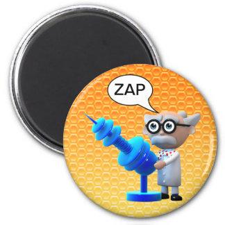 Crazy 3d Mad Scientist Raygun Deathray Refrigerator Magnet