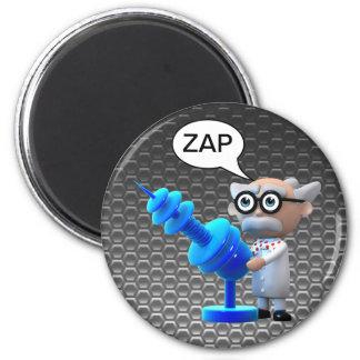 Crazy 3d Mad Scientist Raygun Deathray Refrigerator Magnets