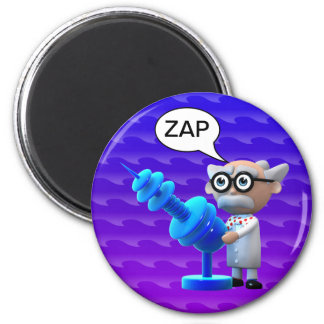 Crazy 3d Mad Scientist Raygun Deathray Magnets