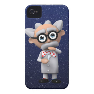 Crazy 3d Mad Scientist Thinking (editable) Case-Mate iPhone 4 Case