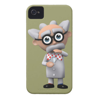 Crazy 3d Mad Scientist Thinking (editable) iPhone 4 Covers