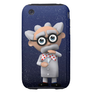 Crazy 3d Mad Scientist Thinking (editable) Tough iPhone 3 Cover