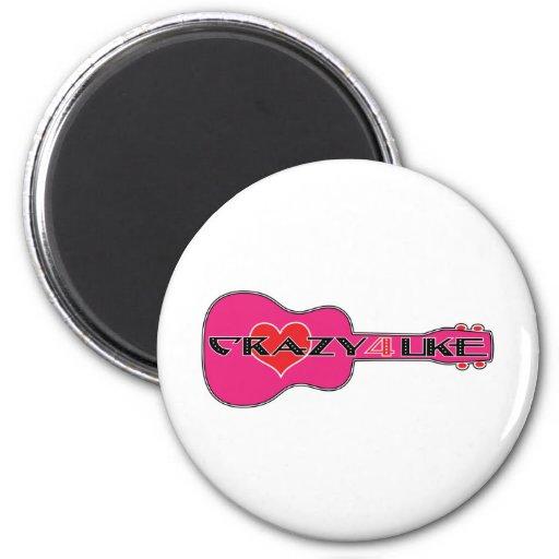 Crazy 4 Uke Magnets