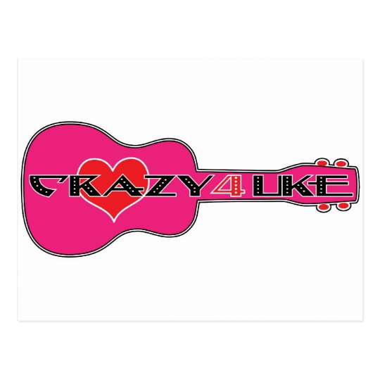 Crazy 4 Uke Postcard