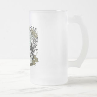 CRAZY 88 BEER MUSCLES FROSTED GLASS BEER MUG