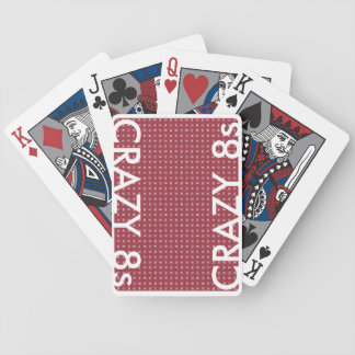 CRAZY 8s cards with RED or BLUE BACKGROUNDS!!! Bicycle Playing Cards