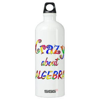 Crazy about Algebra Aluminum Water Bottle
