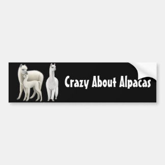 Crazy About Alpacas Bumper Sticker Car Bumper Sticker