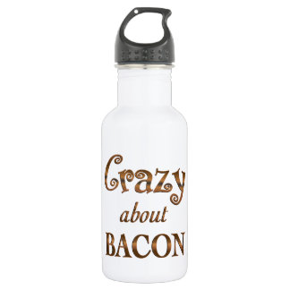 Crazy About Bacon 18oz Water Bottle