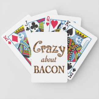 Crazy About Bacon Bicycle Playing Cards