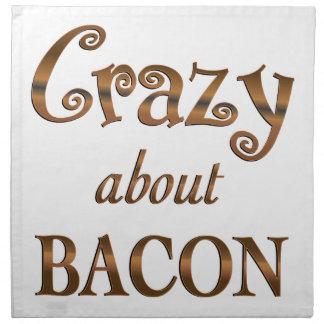 Crazy About Bacon Cloth Napkin