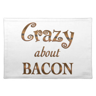Crazy About Bacon Cloth Placemat