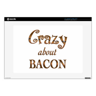 Crazy About Bacon Decals For Laptops