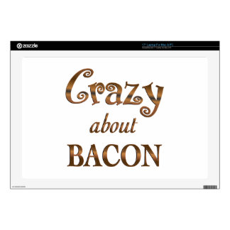 Crazy About Bacon Laptop Decals