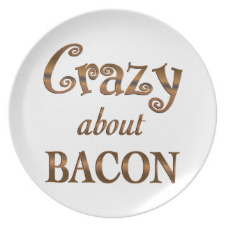 Crazy About Bacon Plates