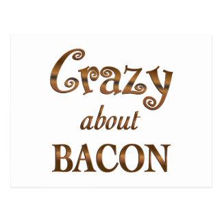 Crazy About Bacon Postcard