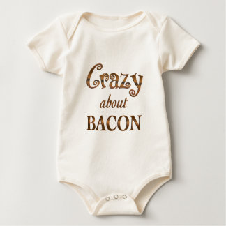 Crazy About Bacon Rompers