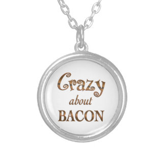 Crazy About Bacon Round Pendant Necklace