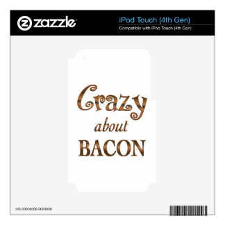 Crazy About Bacon Skins For iPod Touch 4G