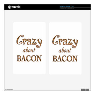 Crazy About Bacon Skins For Kindle Fire