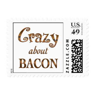 Crazy About Bacon Stamp