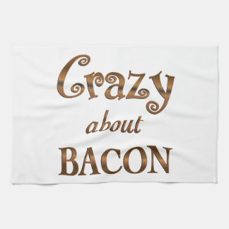 Crazy About Bacon Towel
