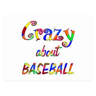 Crazy About Baseball Postcard