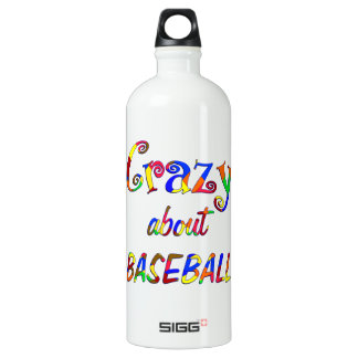 Crazy About Baseball Water Bottle
