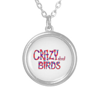 Crazy About Birds Silver Plated Necklace
