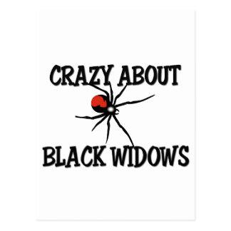 Crazy About Black Widows Postcard
