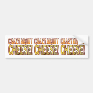 Crazy About Blue Cheese Bumper Sticker