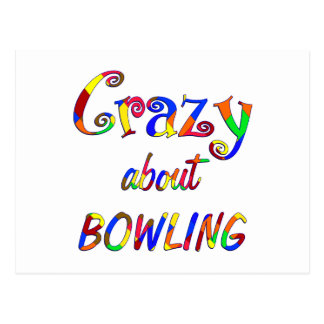 Crazy About Bowling Postcard