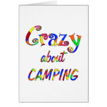 Crazy About Camping Greeting Cards