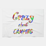Crazy About Camping Hand Towels