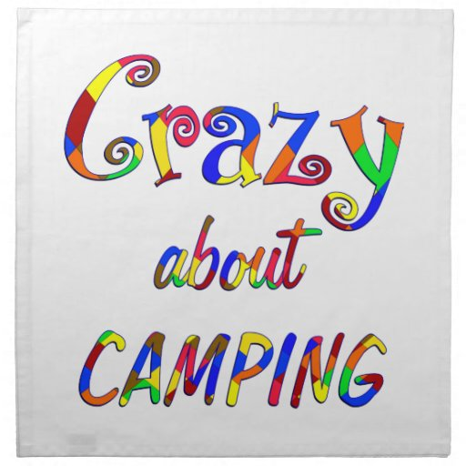 Crazy About Camping Napkin