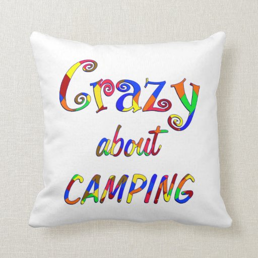 Crazy About Camping Pillows