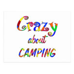 Crazy About Camping Post Card