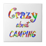Crazy About Camping Tile