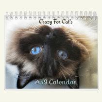 Crazy about Cats  2019 wall calendar