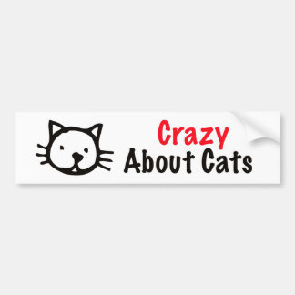 Crazy About Cats Bumper Sticker