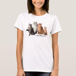 Crazy About Cats Cat T-Shirt