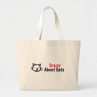 Crazy About Cats Jumbo Tote Bag