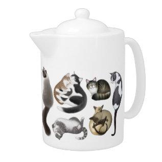 Crazy About Cats Teapot at Zazzle
