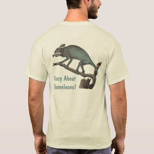 Crazy About Chameleons!  Antique Print T-Shirt