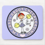 Crazy About Cheerleading Mousepad