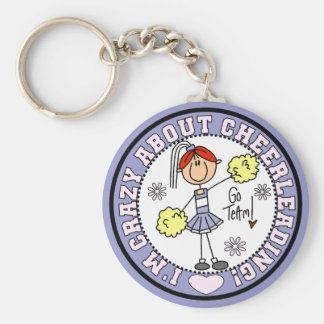 Crazy About Cheerleading T-shirts and Gifts Keychain